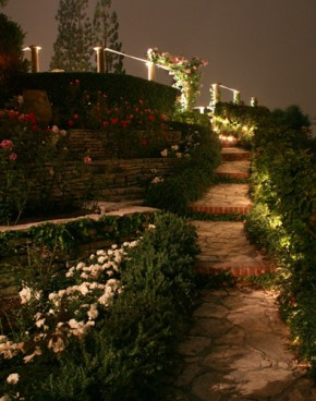 Landscape Lighting for Palos Verdes Garden